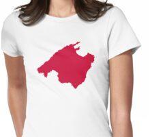 Mallorca map Womens Fitted T-Shirt