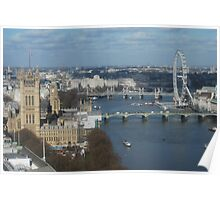 London Eye from on high Poster