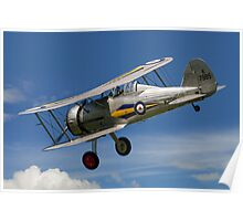 Gloster Gladiator I K7985 G-AMRK banking in the sunshine Poster