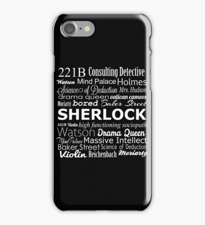Sherlock in Words iPhone Case/Skin
