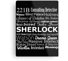 Sherlock in Words Metal Print