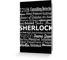 Sherlock in Words Greeting Card
