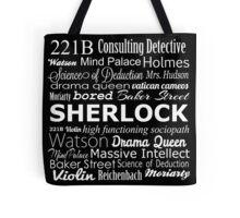 Sherlock in Words Tote Bag