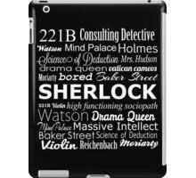 Sherlock in Words iPad Case/Skin