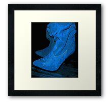 Don't Step on my Blue Suedes... Framed Print