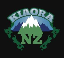 KIOARA (Hello and greetings in Maori language) New Zealand with mountains by jazzydevil