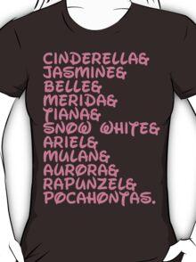 DISNEY PRINCESS Princesses Cinderella Jasmine  T-Shirt