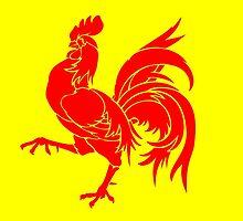 Flag of Wallonia  by abbeyz71