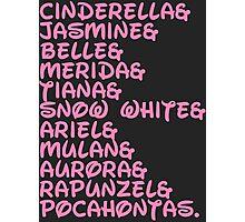 DISNEY PRINCESS Princesses Cinderella Jasmine  Photographic Print