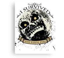 I Survived The Final Day Moon Shirt Canvas Print