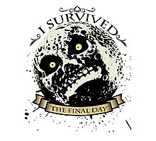 I Survived The Final Day Moon Shirt Photographic Print