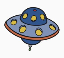 Cartoon UFO Flying Saucer Kids Clothes