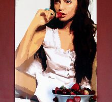 Angelina & Strawberries by Samitha Hess