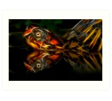 Eastern Box Turtle Fractal Art Print
