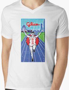 Glico Billboard Painting Mens V-Neck T-Shirt