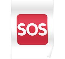 Squared SOS Twitter Emoji Poster