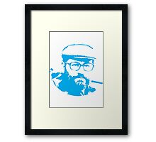 Umberto Eco is watching you Framed Print