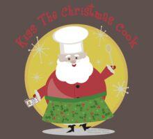 Christmas Santa Chef T-Shirt by Jamie Wogan Edwards
