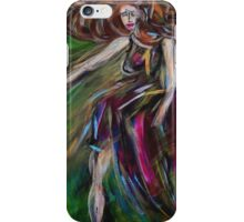 Colorful Dancing Woman Portrait,Abstract Dancer Art  iPhone Case/Skin