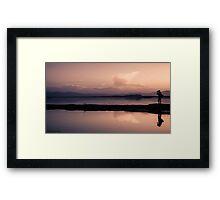 Dusk photographer Framed Print