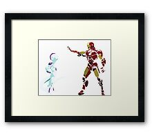 frieza vs ironman Framed Print