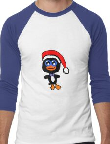 Christmas Penguin Men's Baseball ¾ T-Shirt