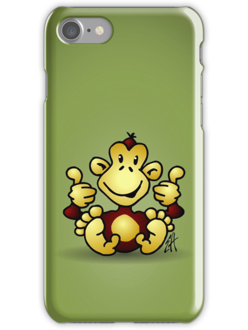 Manic Monkey with 4 thumbs up by cardvibes