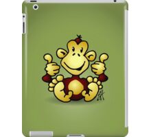 Manic Monkey with 4 thumbs up iPad Case/Skin