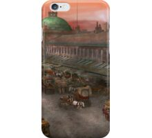 City - Boston Mass - Morning at the farmers market - 1904 iPhone Case/Skin