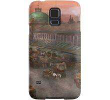 City - Boston Mass - Morning at the farmers market - 1904 Samsung Galaxy Case/Skin