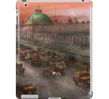 City - Boston Mass - Morning at the farmers market - 1904 iPad Case/Skin