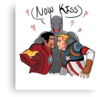 Now Kiss! Canvas Print