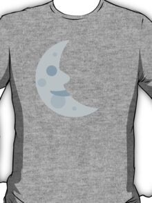 Last Quarter Moon With Face Twitter Emoji T-Shirt