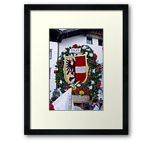 Coat of arms of Austrian town Telfs Framed Print