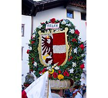 Coat of arms of Austrian town Telfs Photographic Print