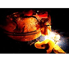 Flowers on fire Photographic Print