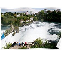 Waterfall of the Rhine River  Poster