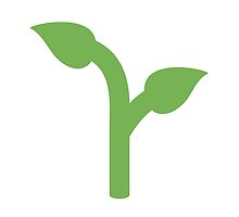 Seedling Twitter Emoji by emoji