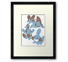 Pokemon Evolution Of Mudkip Framed Print