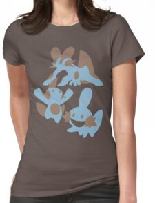 Pokemon Evolution Of Mudkip Womens Fitted T-Shirt