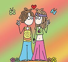 Hippie Lovers by Amy-lee Foley