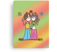 Hippie Lovers Canvas Print