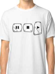 Play Stop Pause Pedals Classic T-Shirt