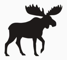 Moose Silhouette Kids Clothes