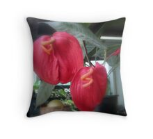 Flamingo Plant Throw Pillow