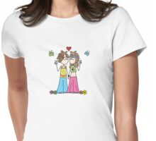 Hippie Lovers T Womens Fitted T-Shirt