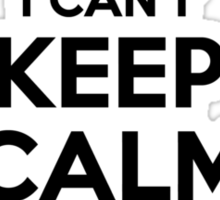 I cant keep calm Im a YEAWOOD Sticker
