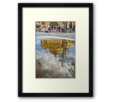 Chaos above - Peace below Framed Print