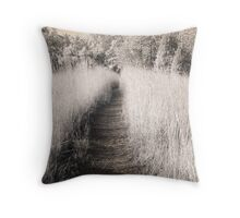 The Invisible Path Throw Pillow