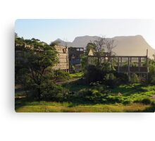 Ruins of the former shale oil refinery, Capertee Valley NSW Canvas Print